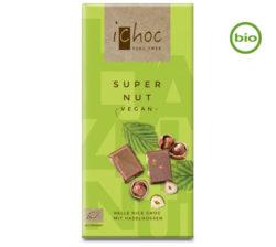 Chocolate vegano bio con leche de arroz y avellanas ichoc
