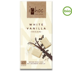 Chocolate vegano bio blanco con vainilla ichoc