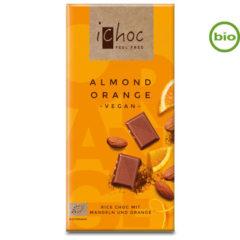 Chocolate vegano bio con almendras y naranja ichoc