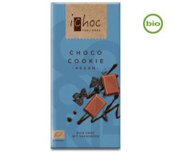 Chocolate vegano bio con leche de arroz y galletas ichoc