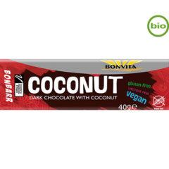 Bonvita, barrita bio de coco con chocolate negro